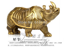 Rhino copper ornaments Lucky Crafts furnishings business office opening gifts 2 colors of your choice(China (Mainland))