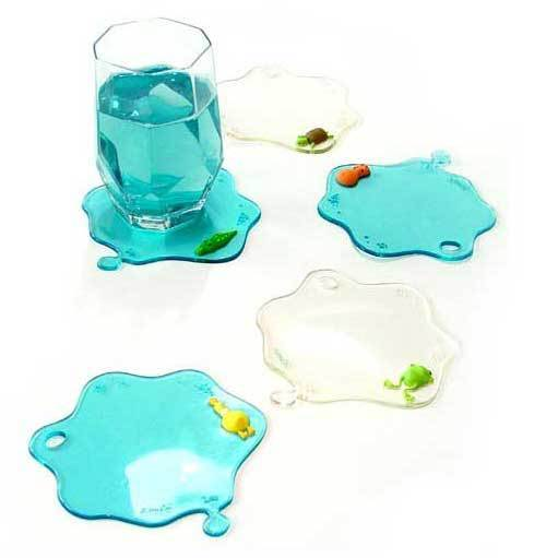 Free shipping cute animal water stain coaster,anti slip cup mat,water drop heat insulation mat