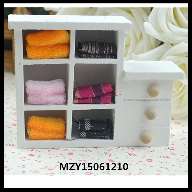 Doll Bedroom Furniture Doll Wardrobe White Wood Wardrobe Accessories For 11'' Doll 1/6 Doll(Hong Kong)