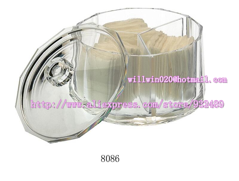 2016 large best wholesale heavy duty mini small plastic acrylic candy daily storage cosmetic container can jar tank holder(China (Mainland))