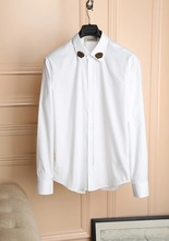 top quality men fashion luxury branded style male long sleeve  shirt  men   clothes(China (Mainland))