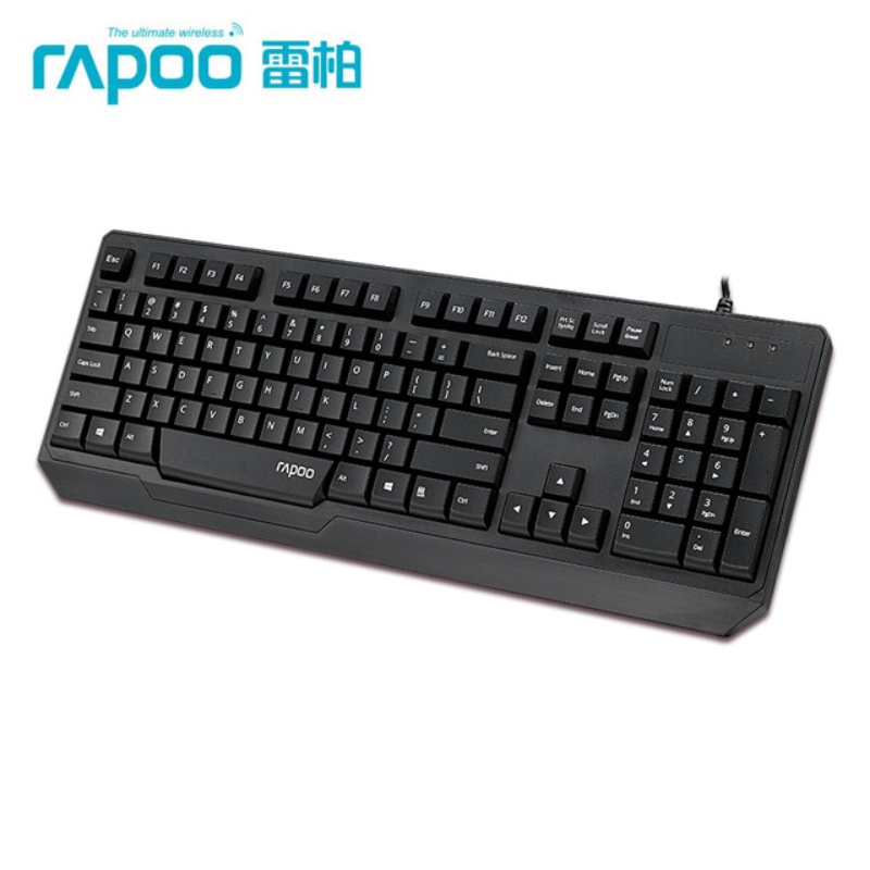 RAPOO N2210 USB Wired Spill-resistant Keyboard for Desktop Laptop Original Packaging Free Shipping(China (Mainland))