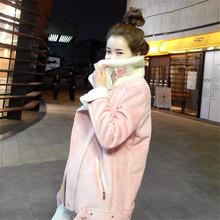 Winter Women's Clothing Suede Jacket Wadded Jackets Coats Casual Cotton Padded Coat Female Warm Solid Parkas Feminina C1261