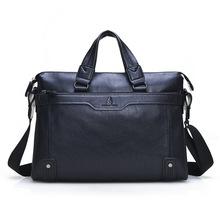Men Leather Briefcase Vintage Laptop Briefcases Cow Split Leather Briefcase Computer Bag Male Shoulder Bag Mens Handbags(China (Mainland))