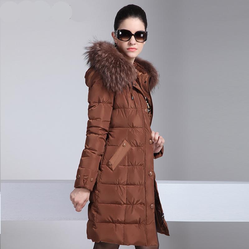 2015 Women Genuine Luxurious winter coat pleated down coat women winter long korean winter parka Women Luxurious winter coat(China (Mainland))