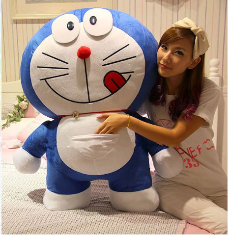 anime huge toy stuffed plush Doraemon toy ,about 100cm hugging pillow,birthday gift d704<br><br>Aliexpress