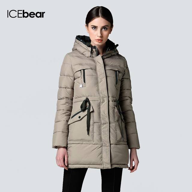 ICEbear долгой зимы Марка Мода Одежда 2015 Куртки и девочек плюс размер женщин Модные Куртка Вниз Одежда Аксессуары Пальто