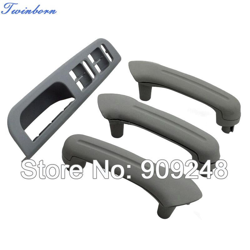 Interior Door Grab Handles Cover + Switch Bezel Set Fit VW Golf Jetta MK4 Gray - TwinBorn Auto Accessory store