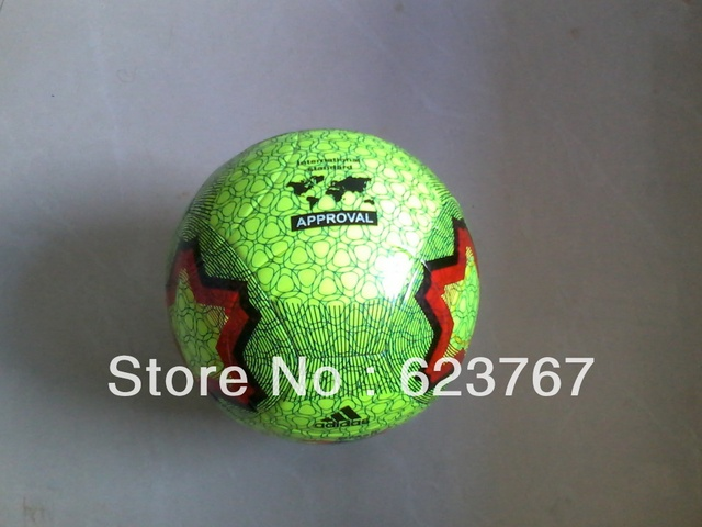 Free shipping 2013 newest high quality green PVC soccer sports