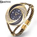 Rhinestone Whirlwind Design Metal Weave Clock female Dress Girls Bracelet Bangle Quartz Watch Woman Wristwatch Siver