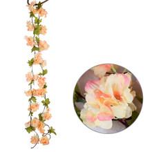 الزهور الاصطناعية محاكاة الكرز الروطان زهرة نبات معلق يترك جارلاند لحزب الوطن حديقة الجدار الديكور(China)