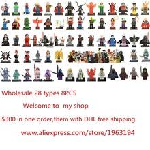 Legoelieds 8Pcs STAR WARS  Avengers  figures marvel Super hero loz minifigures building blocks sets model bricks toys baby  toy