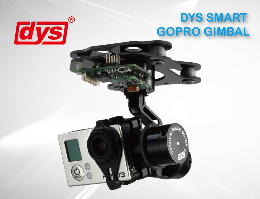 Dys 3 axis gimbal brushless smart gopro camera mount w for Motorized video camera mount