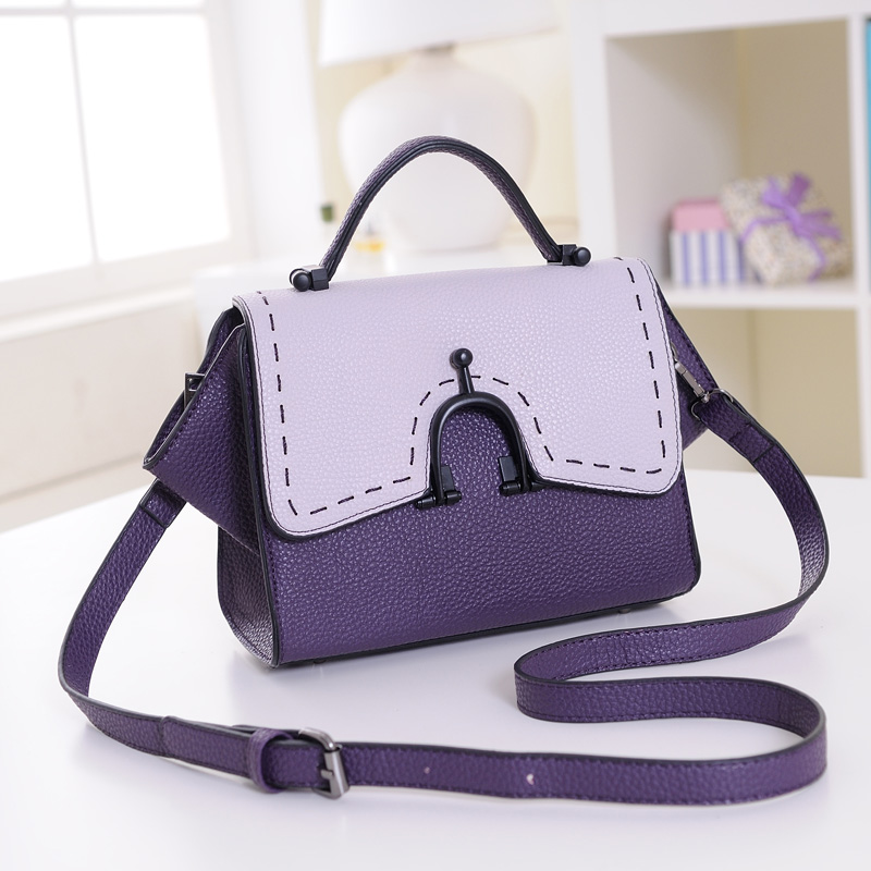 2014 women's handbag/ girls bags/ fashion color block small bag/ mini messenger shoulder bag 1204A046