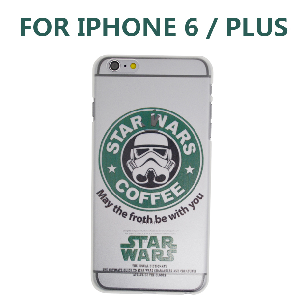 Starbucks Coffee Protective Case Star Wars transparent Phone Apple iPhone 6 5S iPhone6 Plus PC Back Cover - Eago Technology Co., LTD. store