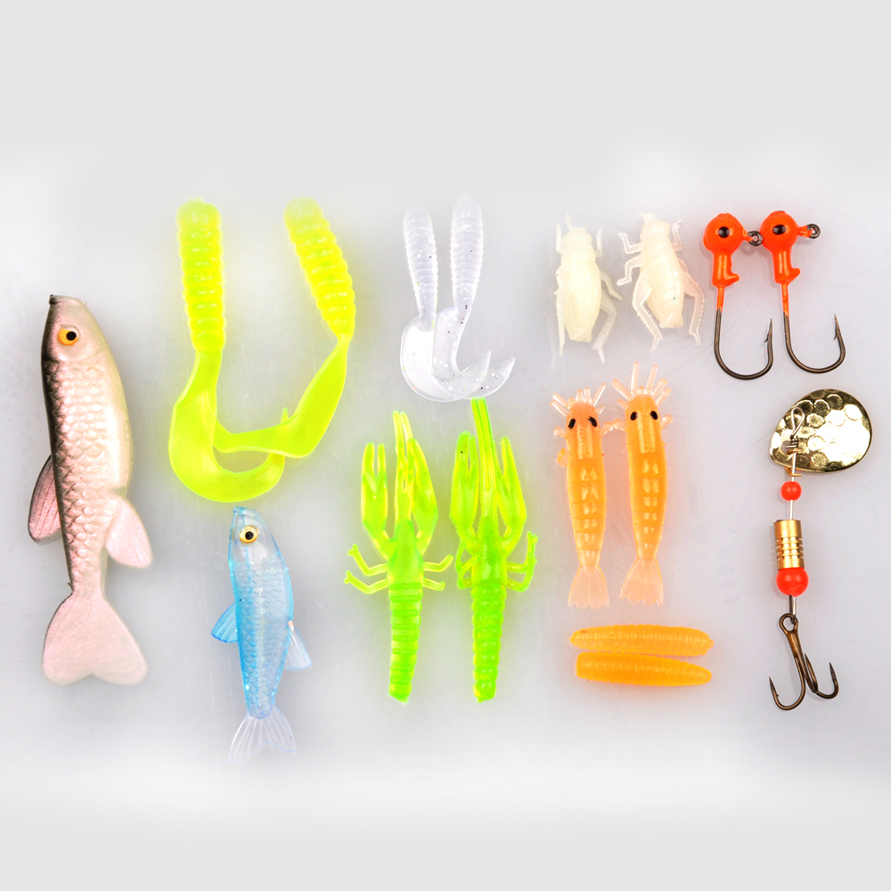 New Arrival Hot-selling Fishing Lure Set 58g 17 Pieces Carp Fly Fishing Soft Bait JIJ Head Hooks Fishing Spoon Fishing Tackle(China (Mainland))