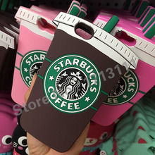 3D Cartoon Starbuck Coffee Cup model Soft Silicon Case Cover for iPhone 6 Plus 4S 5S For Samsung S4 S5 S6 Note 3 4 A5 A7 E5 E7(China (Mainland))