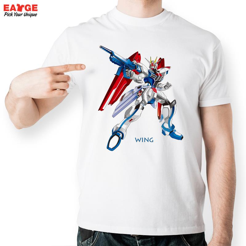 [EATGE]Wing Gundam W T Shirt Design Inspired By Game Super Robot Wars T-shirt Cool Fashion Novelty Tshirt Men Women Printed Tee(China (Mainland))