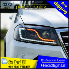 Great Wall Haval H6 Headlights 2013-2015 LED Headlight DRL Bi Xenon Lens High Low Beam Parking Fog Lamp Headlamps - Quan Che Dong Xiang Automobile Store store
