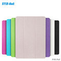 Ultra Slim Tri Fold PU Leather with Crystal Hard Back Smart Stand Case Cover for ios