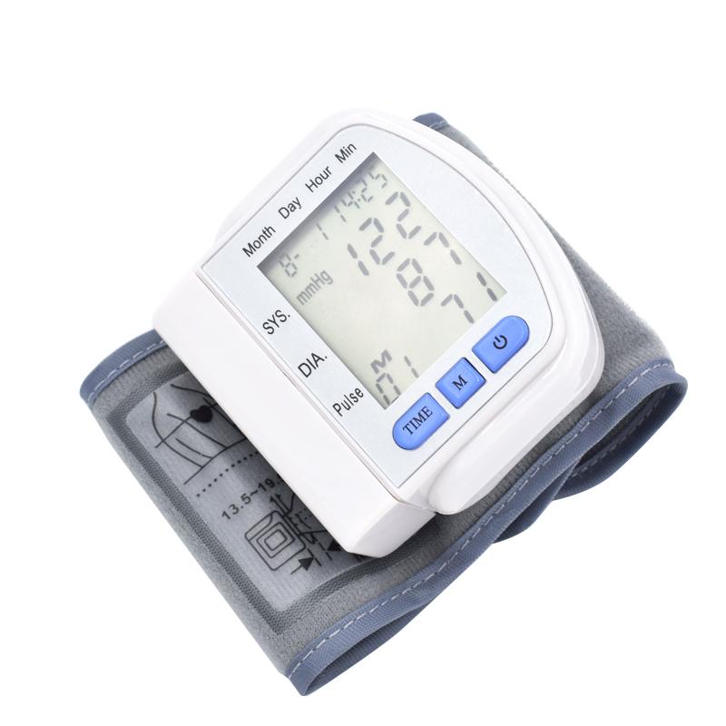 easy operate digital wrist blood pressure monitor health monitor monitor de presion arterial retail and wholesale
