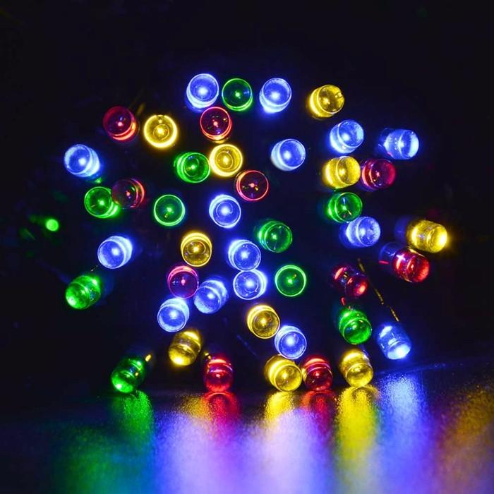 22M 200 LED Strip Outdoor Lighting Solar Power String Fairy Light Outdoor Waterproof For Wedding Christmas Party Garden Light