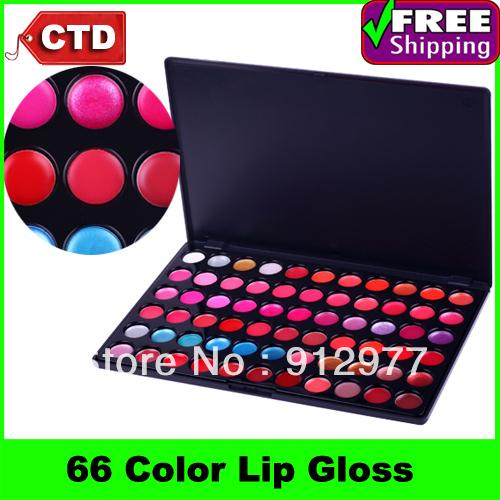 L66, Professional Cosmetic Makeup 66 Color Gorgeous Lipsticks Lip Gloss Palette