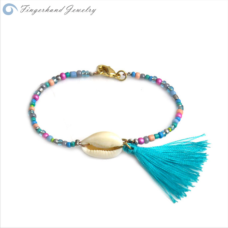fingerhand jewelry 2015 bracelets for women bracelet manchette femme summer beach bead tassel. Black Bedroom Furniture Sets. Home Design Ideas