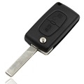 New Folding Replacement Remote Key Shell Case 2 Button For Peugeot 207 307 CITREON C2 C5