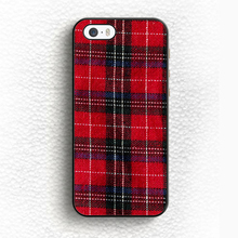 Hot Red Plaid font b Tartan b font Pattern Print On Soft TPU Skin Mobile Phone