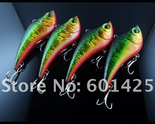 100pcs Game vibe Fishing lures 90mm 20g with green color eyes