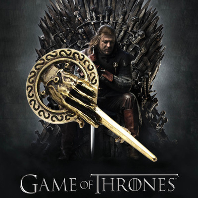 Hot A Song of Ice and Fire Game of Thrones Hand of the King classic retro vintage brooches badge alloy pin for men male(China (Mainland))