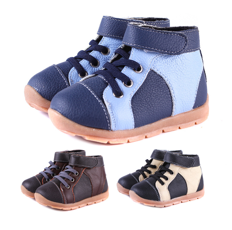 hot Selling Spring Autumn British style children's casual boots Infants Genuine Leather Toddler Kids single boots(China (Mainland))
