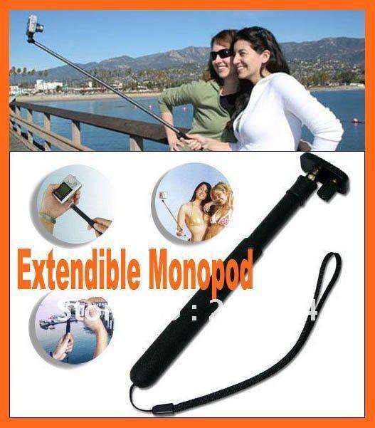 Free shipping Hand Held Monopod XShot Camera Extender for Digital Camera Extendible Monopod Camera Tripod Handheld Tripod Black