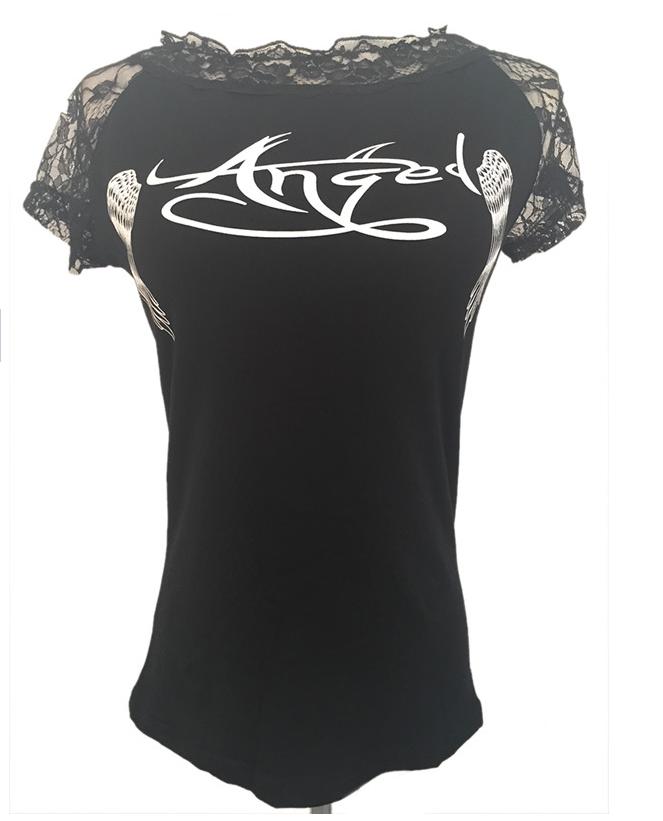 Женщины Блузки угол крыла печатных рубашки 2016 лета roupas кружева Топ camisa blusa ropa mujer корейской моды одежды блузки рубашки