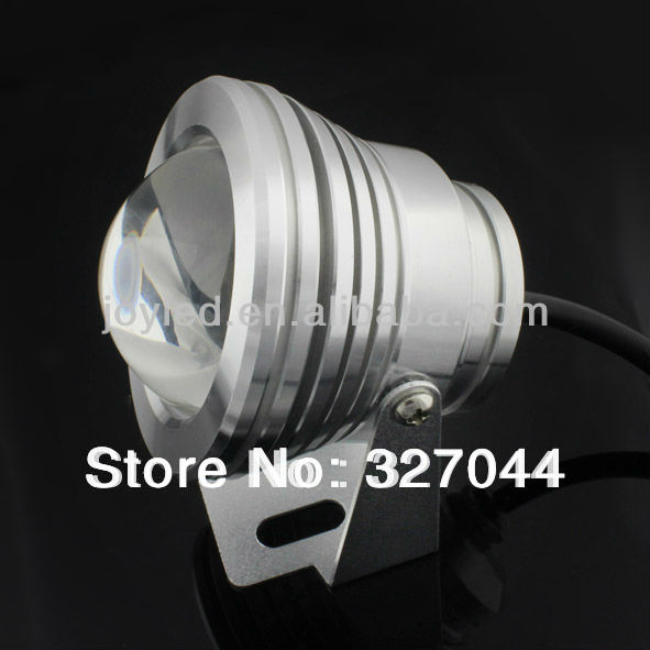 DHL Free shipping 10W 12V 800LM IP68 swimming pool lamps underwater led lights With Convex Glass Lenses 10pcs/lot(China (Mainland))