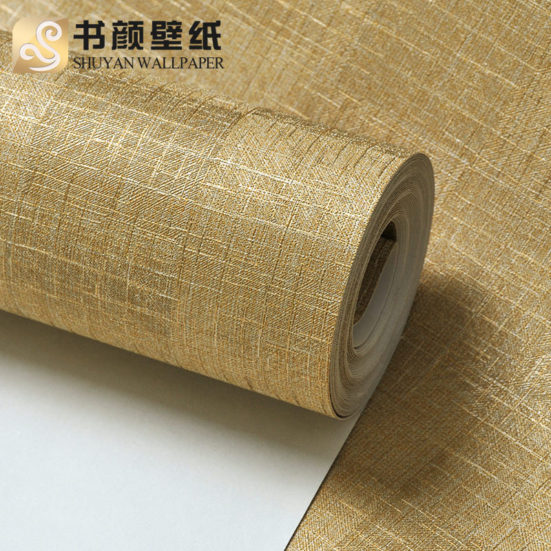 Europe textured wall papers straw vinyl wallpapers solid for Solid vinyl wallcovering
