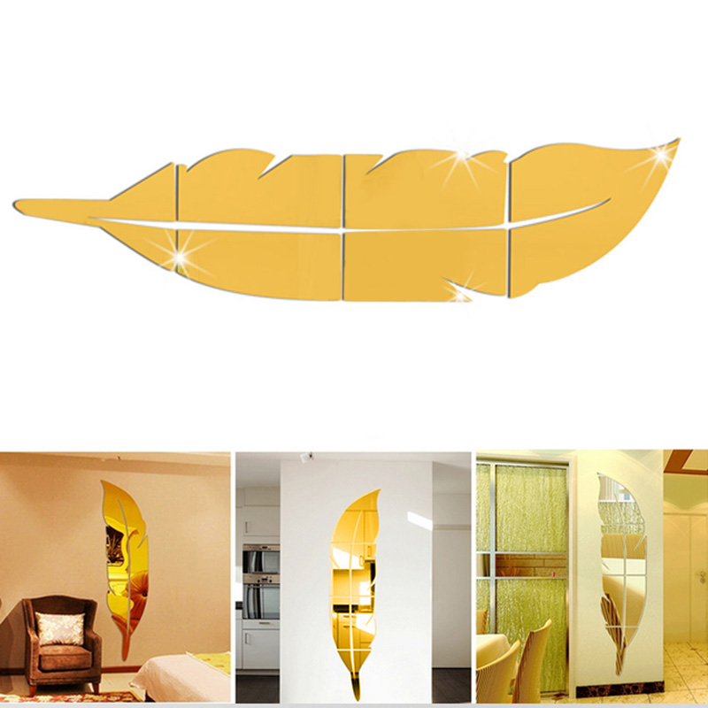 Decor Wall Sticker Picture More Detailed Picture About Wholesale Diy Modern Plume Feather
