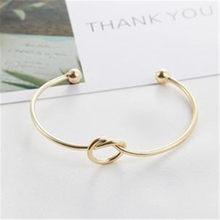 1 ps proste osobowość bransoletka otwarcie węzeł bransoletka dla kobiet moda biżuteria hurtowych Punk bransoletki prezenty przyjaźń(China)