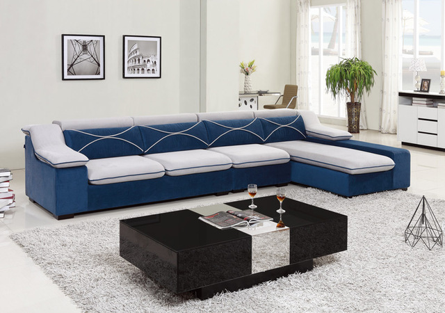 Living Room Fabric Lounge Suite Modern Corner Sofa