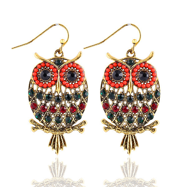 +Fashion Bohemian vintage Owl earrings Discount women jewelry accessories - Sycamore Trade store