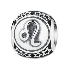 Offre spéciale véritable 925 argent Sterling 12 Constellation perles breloque Fit Bracelet Original authentique bijoux à bricoler soi-même cadeau(China)