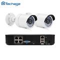 4CH 1080P POE NVR Kit 2pcs 720P 1080P Night Vision IP Camera Outdoor Waterproof P2P Alarm