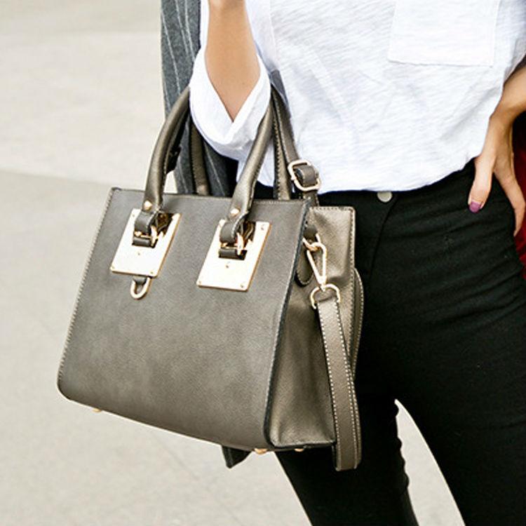 New 2015 Fashion Pu Leather Hand Bags Women's Celebrity Pastel Casual Shopper Shoulder Bag Bolsa Desigual Handbag(China (Mainland))