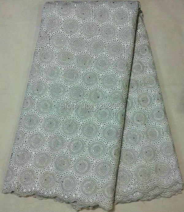 Здесь можно купить  White 2014 african lace 100%cotton swiss voile lace high quality for party wedding lace free shipping by DHL  SL436  Дом и Сад