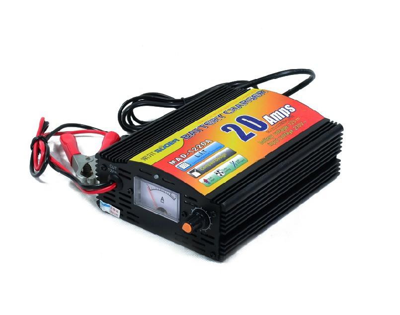 Free shipping MAD-1220 Intelligent 3-stage Adjustable battery charger/12V20A PWM Adjustable Battery charger 220VAC(China (Mainland))