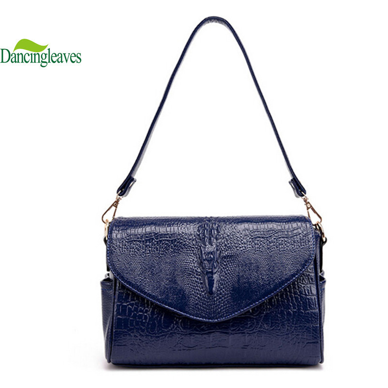 2016 Genuine Leather Women Bags Fashion Crocodile Women Messenger Bags Famous Brand Crossbody Bags Tote DL0112(China (Mainland))