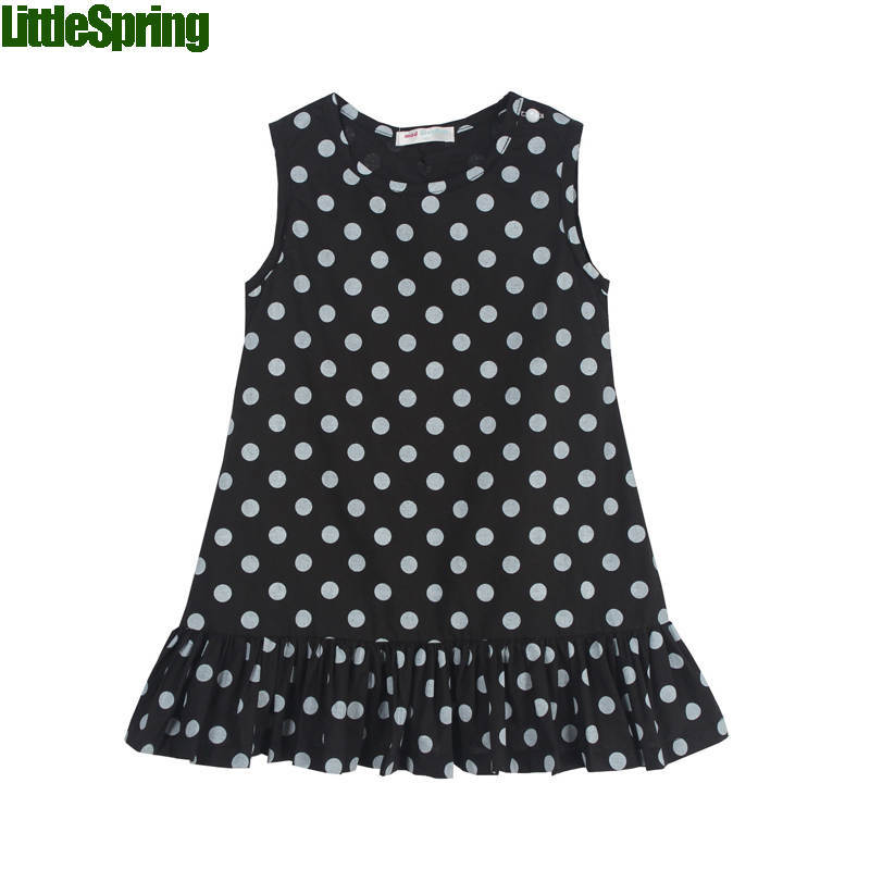 children dresses 2016 fashion girls dress dots striped tank kids cute princess 2-7 years - baby_mart store