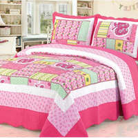 good quality colorful prewash patchwork bedspread