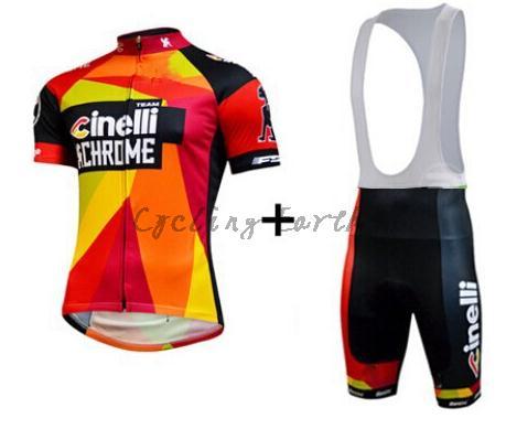 Free shipping! 2015 cil red short sleeve cycling jersey bib shorts set, bike bicycle wear clothes jerseys pants,gel pad